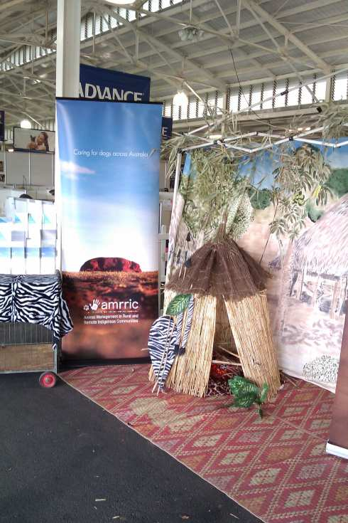 The VBBA stand & AMRRIC Banner